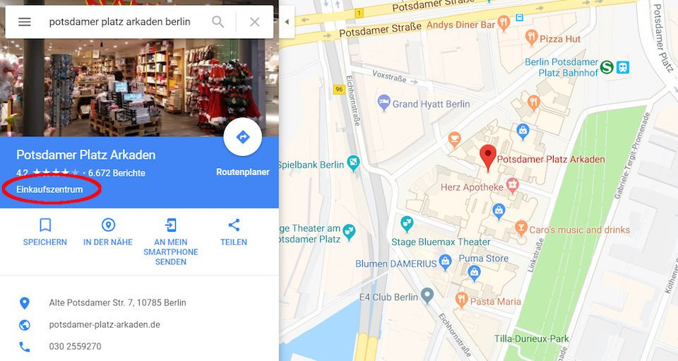 Local SEO My Business Kategorie